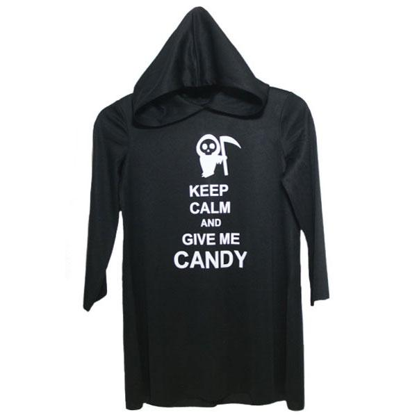 Keep Calm Robe Black