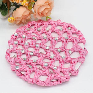 Light Pink Hair Bun Net with Diamantes Ballet Not specified