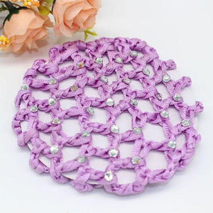 Lilac Hair Bun Net with Diamantes Ballet Not specified