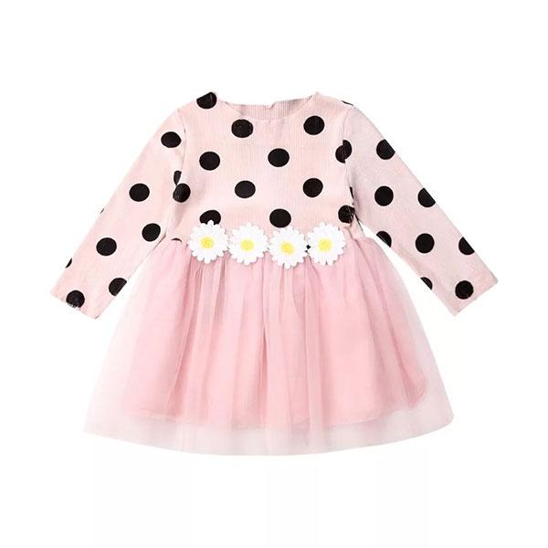 Long Sleeve Polka Dot Dress