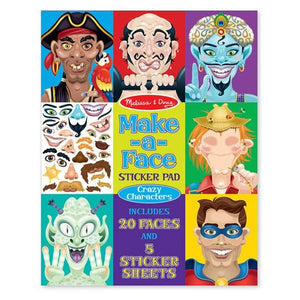 Make a Face Crazy Character Sticker Pad Toys Melissa & Doug