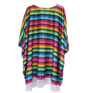 Mexican Poncho (Adult) Dress Up Not specified