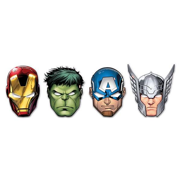 Mighty Avengers Die Cut Masks 6pc
