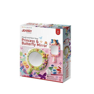 Mould and Paint Princess & Butterfly Mirror Toys Jeanny