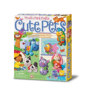 Mould & Paint Cute Pets Toys 4M