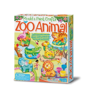 Mould & Paint Zoo Animal Toys 4M