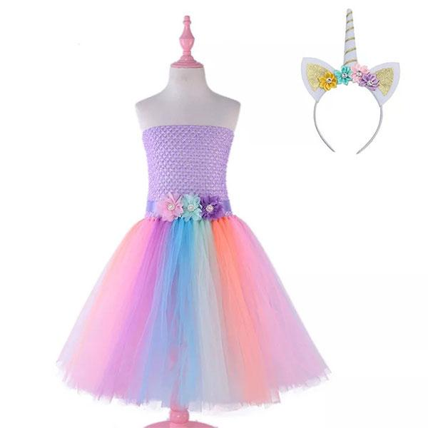 Multicoloured Unicorn Dress