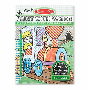 My First Paint with Water - Vehicles Toys Melissa & Doug