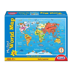My First World Map 24 Pc Puzzle Toys Not specified