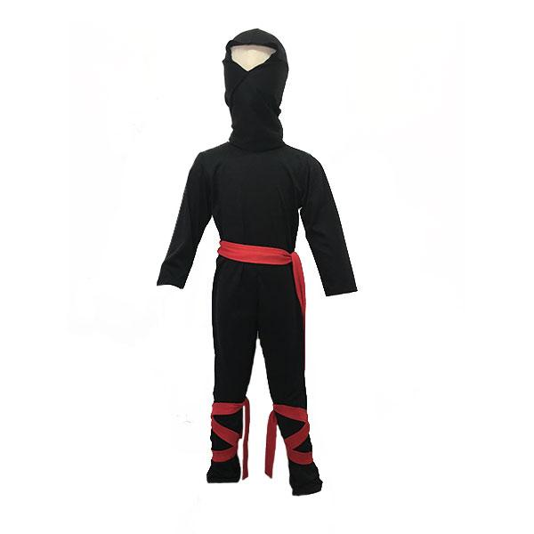 Black Ninja Suit with Red Ties