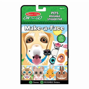 On The Go - Pets Reusable Sticker Pad Toys Melissa & Doug