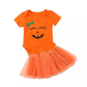 Orange Halloween Tutu Set Dress Up Not specified