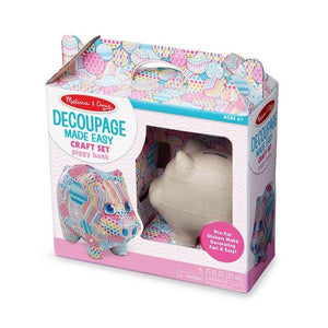 Piggy Bank - Decoupage Made Easy Toys Melissa & Doug