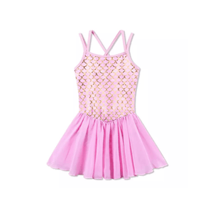 Pink Mermaid Leotard Tutu Dress Up Not specified