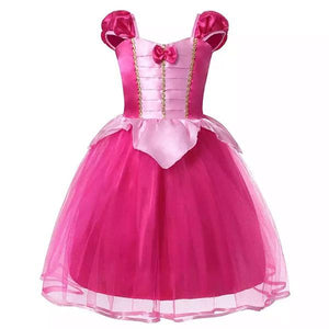 Pink Princess Dress with Bow Dress Up Not specified