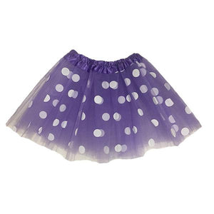 Polka Dot Tutu Skirt (Age 3-6) Dress Up Not specified Purple
