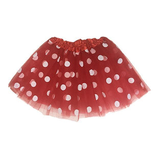 Polka Dot Tutu Skirt (Age 3-6) Dress Up Not specified Red
