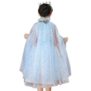 Princess Blue Chiffon Cape Dress Up Not specified