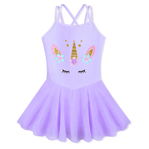 Purple Chiffon Unicorn Tutu Dress Up Not specified