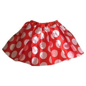 Red Polka Dot Tutu Skirt Dress Up Not specified
