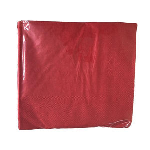 Red Serviettes 20pc Parties Not specified