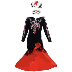 Red Skeleton Dress Dress Up Not specified