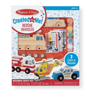 Rescue Vehicle Set Decorate Your Own Toys Melissa & Doug
