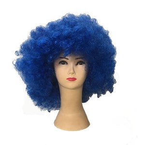 Royal Blue Afro Wig Large Dress Up Not specified