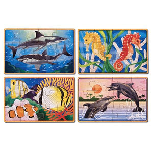 Sea Life Puzzles in a Box Toys Melissa & Doug