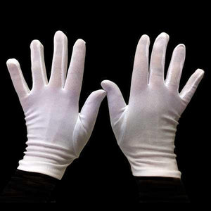 Short White Gloves- Children Dress Up Not specified