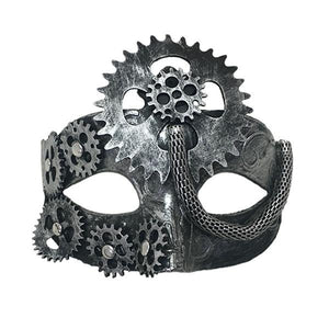 Silver Steampunk Mask Dress Up Not specified