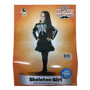 Skeleton Girl (Age 7-9) Dress Up Not specified