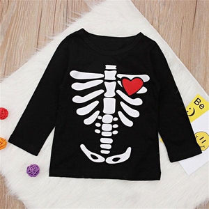 Skeleton Heart Shirt Clothing Not specified