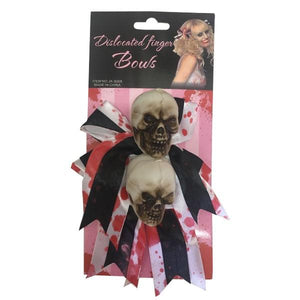 Skull Hair Clip 2pcs Dress Up Not specified