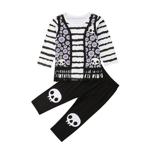 Skull Halloween Set Striped Clothing Not specified