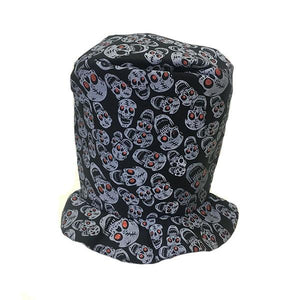 Soft Top Hat With Skulls Dress Up Not specified