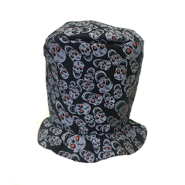 Soft Top Hat With Skulls
