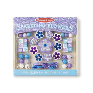 Sparkling Flowers Wooden Bead Set Toys Melissa & Doug