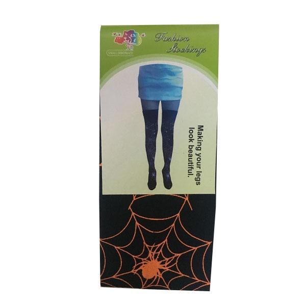 Spiderweb Thigh High Stockings Orange