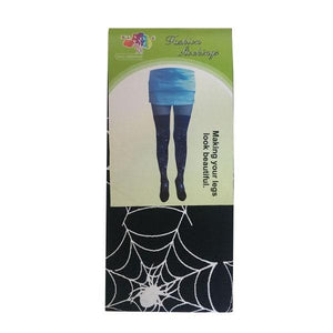 Spiderweb Thigh High Stockings White Dress Up Not specified