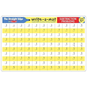 Subtraction Problems Write-A-Mat Toys Melissa & Doug