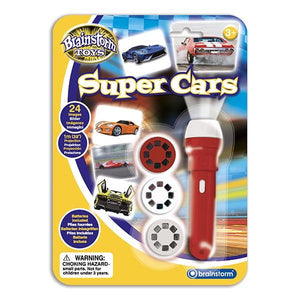 Super Cars Torch and Projector Toys Brainstorm