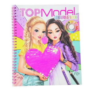 TM Colouring Book Sequins Toys Top Model