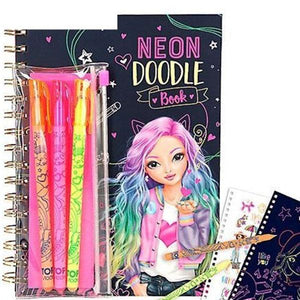 TM Neon Doodle Book With Neon Pens Toys Top Model