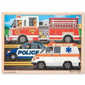 To the Rescue Wooden Jigsaw 24 pc puzzle Toys Melissa & Doug