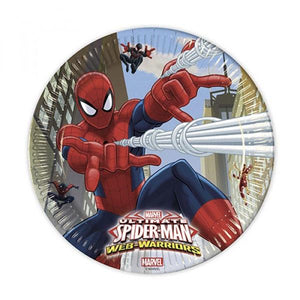 Ultimate Spiderman Web War Paper Plates Parties Not specified