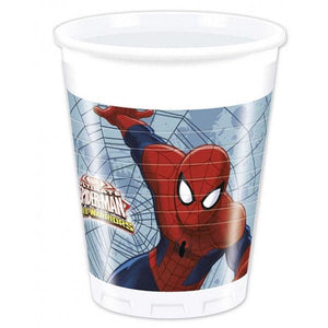 Ultimate Spiderman Web Wars Plastic Cups 200ml Parties Not specified