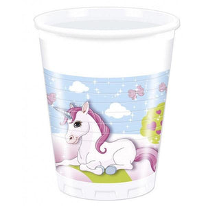 Unicorn Plastic Cups 200ml Parties Not specified