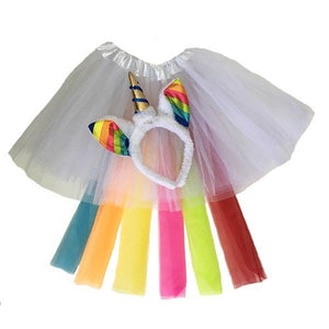 Unicorn Tutu Set White (Age 3-6) Dress Up Not specified