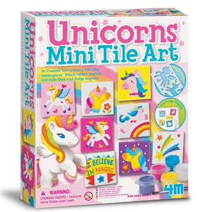 Unicorns Tile Art Magnets Toys 4M